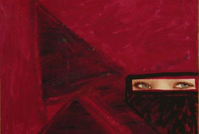 """Opera di Zaza Calzia """"Occhi della Pittura - Acrilico più collage"""